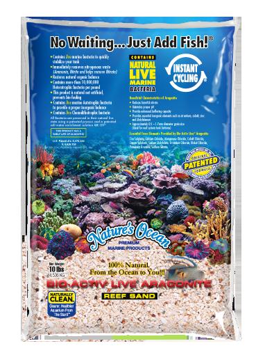 Natures Ocean® Bio-Activ Live® 文石活珊瑚襯底
