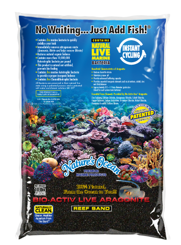 Bio-Activ Live Aragonite Black Beach Live Sand