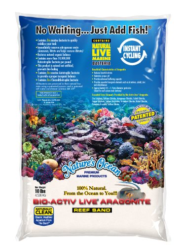 Natures Ocean® Bio-Activ Live® Aragonite Natural White #0 Aquarium Sand