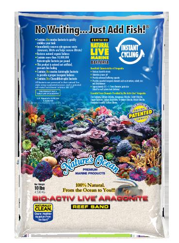 Natures Ocean Bio-Activ Live Aragonite Natural White Live Sand